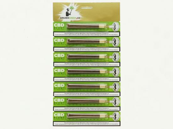 CBD Cannabis Zigarren -7th 333 Gold Blunt MIX (50% Blüte - 50% Tabaccofree)